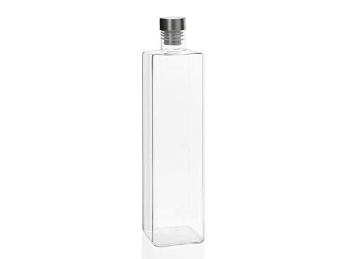 ANDREA HOUSE - Botella de Vidrio Cuadrada para 1,5L / 8x8x33,5cm
