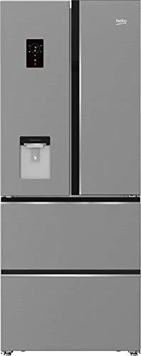 Beko GNE490E30DZXPN French Door - Nevera y congelador con 2 cajones NoFrost, HarvestFresh, Everfresh+, zona 0 °C, pantalla multifunción