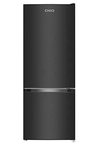 CHiQ FBM205L4 - Frigorífico combi 205L (153L + 52L), Altura 1.44m, Low Frost, Puertas Reversibles, Color Negro, Compresor con 12 años garantia