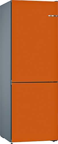 Bosch KVN36COEA Serie 4 VarioStyle – Combinación de nevera independiente/A++ / 186 cm / 260 kWh/año/puerta frontal intercambiable naranja / 215 L nevera / 87 L congelador/NoFrost/FreshSense