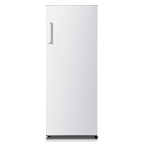 Hisense RL313D4AW1 - Frigorífico de una puerta, clase A+, capacidad neta 242 l, 143,4 cm alto, patas ajustables, silencioso 40dB, color blanco