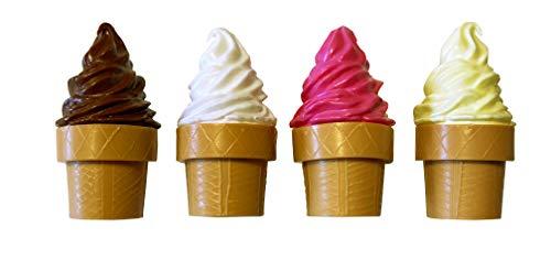 ERRO 4 imanes de helado blando, diseño de alimentos como decoración, imán para nevera, plástico para oficina