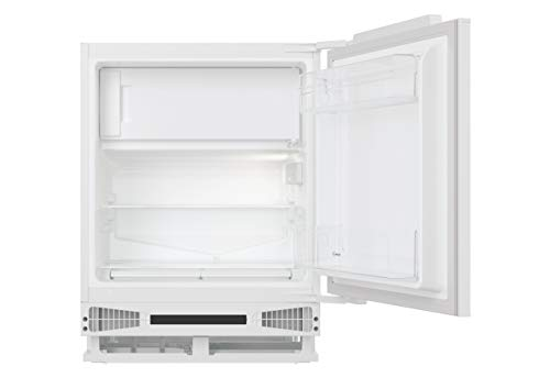 Candy CRU 164 NE/N, Frigorífico pequeño de integración con congelador, 111 L, Iluminación interna, Puerta reversible, 40 dBA, Blanco