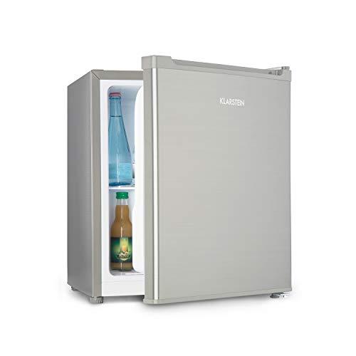 Klarstein Snoopy Eco - Mininevera con congelador, 46 litros de capacidad, Congelador de 4 litros de capacidad, 41 dB, Silencioso, Bajo consumo, Gris