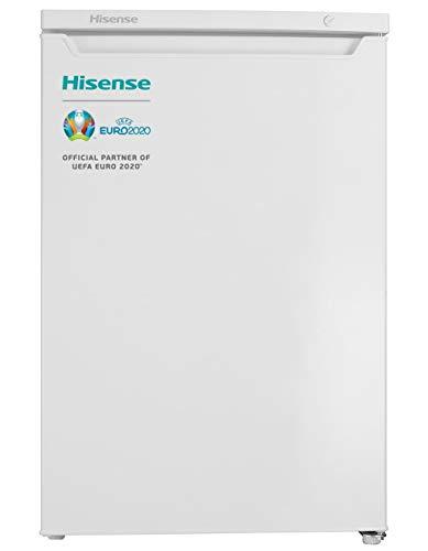 Hisense FV105D4AW2 - Congelador Vertical, Capacidad neta, 84.5cm alto, bajo encimera, puerta reversible, 4 estrellas en el congelador, silencioso, color blanco