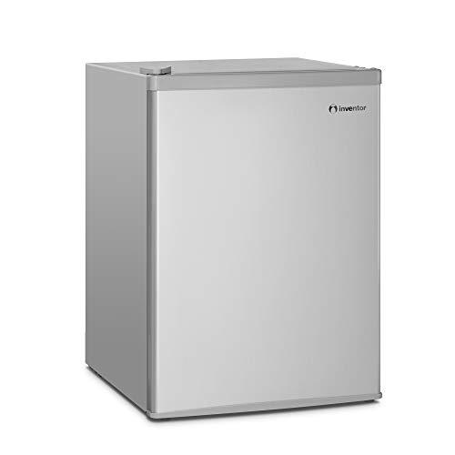 Inventor Mini Nevera A+ con Compresor, 66 litros de Capacidad, Color Plata, Silenciosa e ideal para hoteles, estudiantes, dormitorios y pequeños hogares