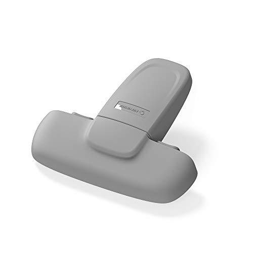 EUDEMON Cerradura para refrigerador de una puerta para seguridad infantil, cerradura para puerta del congelador, fácil de instalar, utiliza adhesivo 3M VHB, sin herramientas ni brocas (Gris)