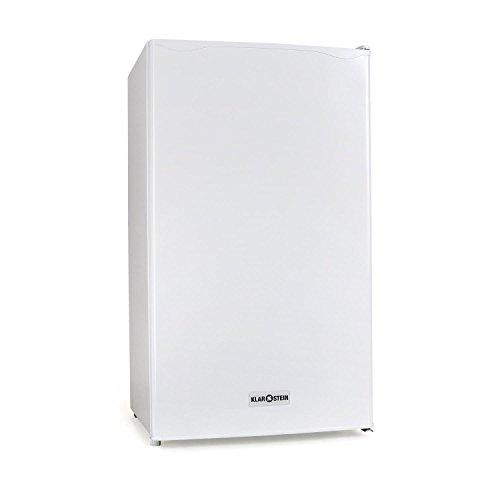Klarstein 90L1-WH - Nevera, Frigorífico doméstico,Capacidad: 90 Litros, 2 x Baldas extraíbles, Cajón, Congelador independiente, 3 Compartimentos en la puerta, Temperatura regulable, Blanco