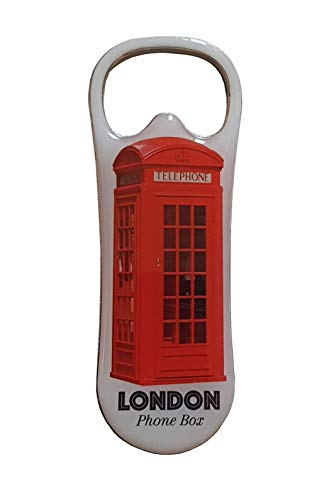 Imán para nevera con diseño de caja telefónica de Londres, con imagen de la icónica cabina de teléfono, recuerdo británico útil de Inglaterra, para cocina, hogar, bar, restaurante, hotel, pub, eventos