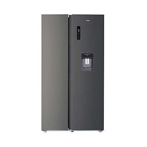 CHiQ FSS559NEI42D - Frigorífico americano, 559L, compresor inverter, Multi-air-flow, Total No Frost, acero inoxidable oscuro, compresor 12 años garantia, A++