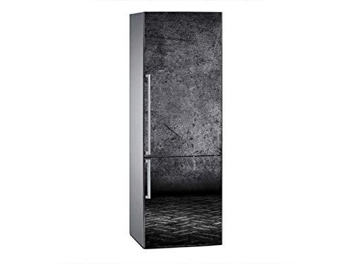 Oedim Vinilo para Frigorífico Pared Fondo Negro 185x60cm   Adhesivo Resistente y Económico   Pegatina Adhesiva Decorativa de Diseño Elegante
