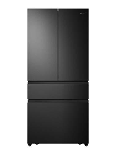 Hisense Refrigerador/congelador NoFrostPlus/Inverter/Multiflow 360°/SuperCool/181,7 cm/pieza refrigeradora 302 l/parte congeladora 178 l/40 dB/310 kWh/año/negro RF540N4SBF2