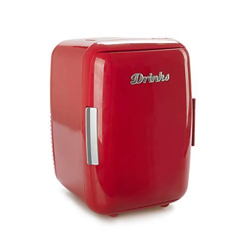 Balvi Nevera Drinks Color Rojo Mini Nevera portátil Matiene Sus Alimentos o Bebidas a la Temperatura elegida Tanto en frío como en Calor Plástico ABS/Aluminio 28x20,5x23,8