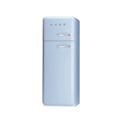 Smeg FAB30LAZ1 Independiente 293L A++ Azul nevera y congelador - Frigorífico (293 L, SN-T, 3 kg/24h, A++, Compartimiento de zona fresca, Azul)