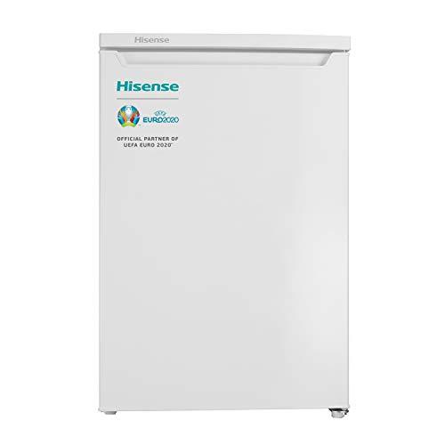 Hisense RR154D4AW2 - Frigorífico una puerta reversible, clase A++, 119 l de capacidad neta, 84.5 cm de alto, silencioso 40dB, 119 litros, Plástico, Blanco
