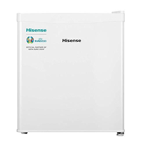 Hisense RR55D4AW1 - Mini Bar, Frigorífico Pequeño, 42 L de Capacidad Neta, 51 Cm Alto, Table Top, Una Puerta Reversible, Bajo Encimera, Silencioso, Color Blanco
