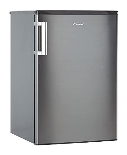 Candy CCTOS 542XHN, Frigorífico pequeño con congelador, 95 litros nevera, 14 litros congelador, 40 dBA, Iluminación LED, Ancho 55 cm, Inox