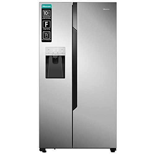 Hisense NoFrostPlus RS694N4TC2 - Refrigerador lateral y congelador a lado (178,6 cm, capacidad de refrigeración de 371 L, 42 dB, 404 kWh/año)