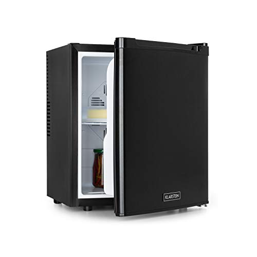 Klarstein CoolTour 38 mininevera - 38 litros, 12 V y 230 V, clase B, enfriamiento entre 5 y 12 °C, para camping, se puede conectar con el mechero del coche o camión, minibar, nevera de bebidas, negro