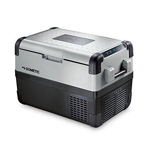 DOMETIC CoolFreeze CFX 50W - Nevera de compresor, conexiones 12/24/230 V, mini nevera de 46 l, capacidad de refrigeración de +10°C a -22°C, conexión Wlan y USB para coche, camión, barco y autocaravana