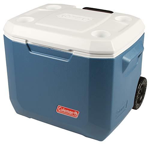 Coleman Xtreme Wheeled Cooler 50QT Nevera pasiva con Ruedas, Nevera con Capacidad 47 L, Aislamiento Integral de Poliuretano, refrigeración Durante al Menos 4 días