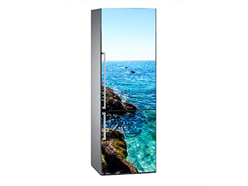 Oedim Vinilo para Frigorífico Cala de Maro 185x70cm   Adhesivo Resistente y Económico   Pegatina Adhesiva Decorativa de Diseño Elegante