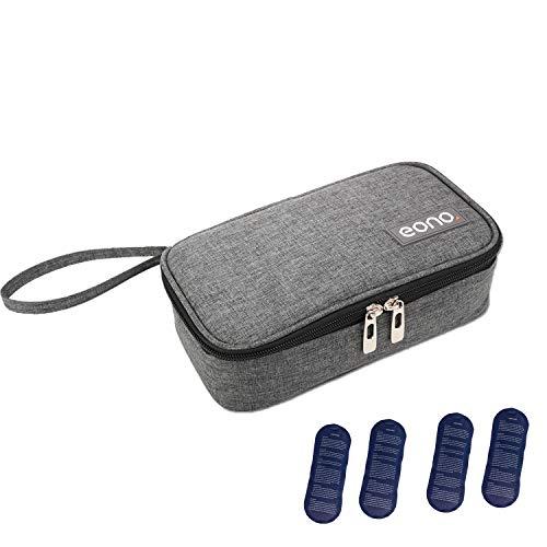 Eono by Amazon - Bolsa diabética Enfriador de insulina Bolsa Bolsa de jeringas para la Diabetes, insulina y medicamentos