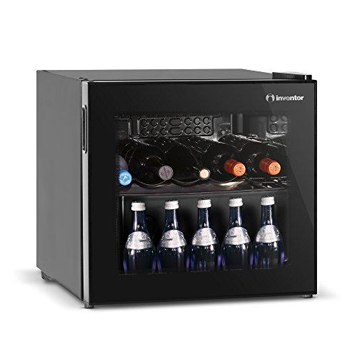 Inventor Nevera para Vinos Α+ de Compresor con 43 litros de Capacidad para 10 Botellas de Vino, Cervezas y Bebidas con 2 Años de Garantía.