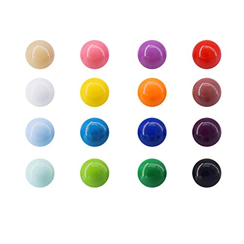 Magnetpro Imanes de neodimio esféricos Imán de refrigerador lindo muliticolor, resina decorativa divertida para oficina, calendarios, pizarras, mapas (16 piezas)