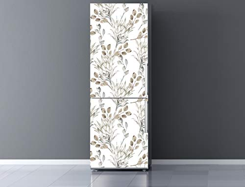 Oedim Vinilo para Frigorífico Ramas Secas 200x70cm   Adhesivo Resistente y Económico   Pegatina Adhesiva Decorativa de Diseño Elegante