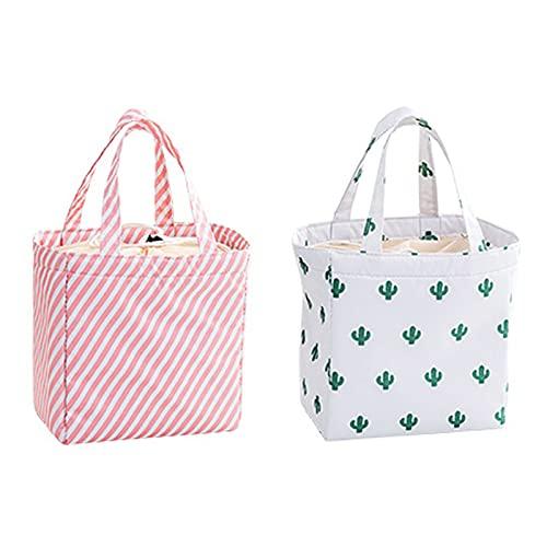 Yuforest-2 piezas,bolsa de picnic bolsa de almuerzo,bolsa de almuerzo para hombres,Bolsa Bolsas Térmicas Almuerzo,para el trabajo, la escuela, el campamento y otras ocasiones para llevar comidas