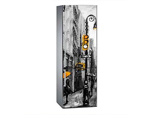 Oedim Vinilo para Frigorífico York en Carboncillo 185x60cm   Adhesivo Resistente y Económico   Pegatina Adhesiva Decorativa de Diseño Elegante