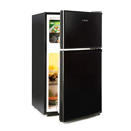Klarstein Big Daddy Cool – combinación nevera-congelador, Congelador encima, silencioso, eficiencia energética de clase A, 61 L de capacidad, nevera de 35 L, congelador de 26 L, negro