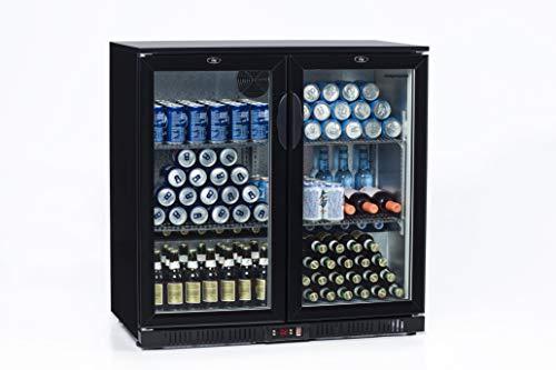 FrosterBeer 02 · Nevera de bebidas · (200 L, 90x92,5x54cm, NO FROST, LED, RUEDAS)