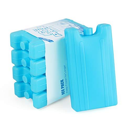 AGOER - 5 bloques refrigerantes para helado, reutilizables, 400 ml, para bolsa isotérmica o nevera de trabajo, pícnic, camping