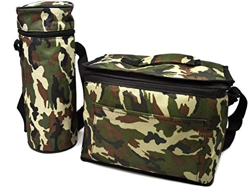 Camuflaje Bolsa 10 ltr almuerzo aislada nevera militar 1.5 botellas Enfriador Picnic camping congelador comida agua