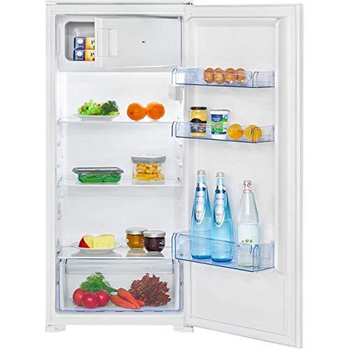 Bomann KSE 7807.1 - Nevera empotrada, 181 litros, congelador de 14 litros, iluminación interior LED, función de enfriamiento rápido, rango de temperatura: 0 °C ~ +8 °C, color blanco