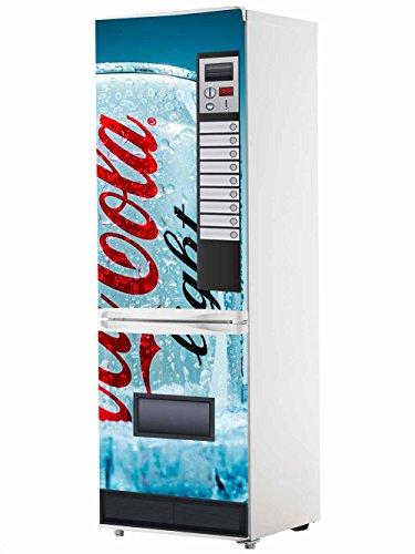Pegatinas Vinilo para Frigorífico Máquina expendedora Cocacola Azul   Varias Medidas 185x60cm   Adhesivo Resistente y de Fácil Aplicación   Pegatina Adhesiva Decorativa de Diseño Elegante