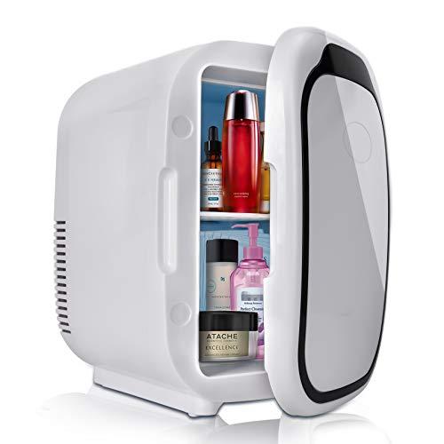 Mini nevera portátil con capacidad de 6 litros, con función de calor frío para coche, caravana, casa, oficina y dormir, 12/24 V CC