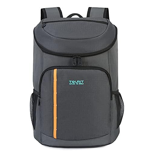 TOURIT Mochila térmica nevera 28 L bolsa térmica porta almuerzo bolsa nevera isotérmica Isoterma para camping, picnic, barbacoa, eventos deportivos