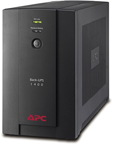 APC BX1400U-GR Back-UPS BX - Sistema de alimentación ininterrumpida SAI 1400VA (4 tomas 'Schuko', AVR, USB, software de apagado)