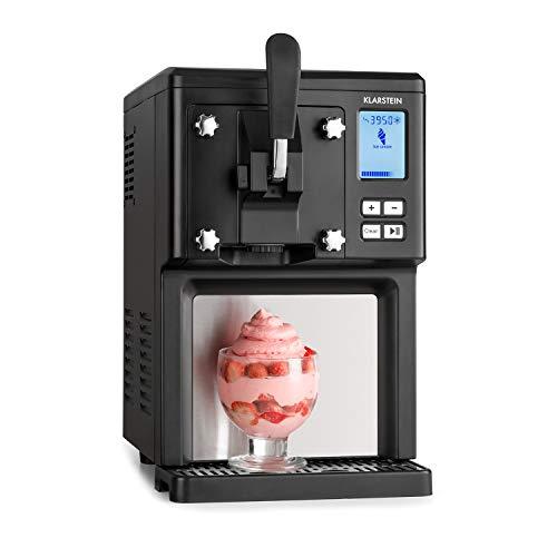 Klarstein Sweet Sundae - Máquina de helados, Por compresión, Hasta 900 g, 200 W, Enfriamiento de 3h, Capacidad 1,5 L, Limpieza automática, Sistema de dispensación, Embudo, Pantalla LCD, Negro