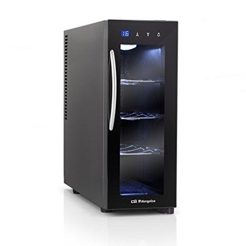 Orbegozo VT 415 - Vinoteca de 4 botellas, display digital y panel de control táctil, control electrónico de la temperatura, refrigeración termoeléctrica, luz interna LED, 70 W