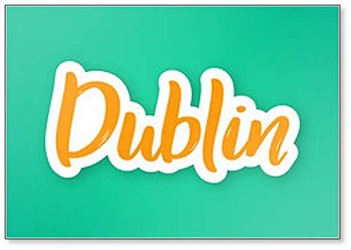 Dublin - Imán para nevera con frases dibujadas a mano