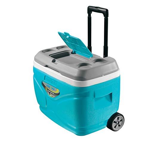 Pinnacle Nevera portátil 30 litros Roller Ruedas, Camping-Deportes, Naranja, 48x33,5x41 cm