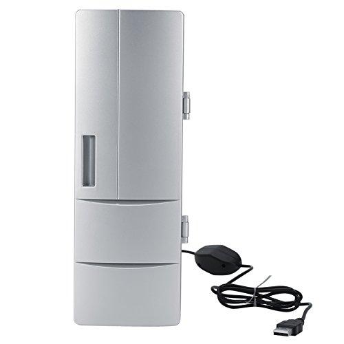 Zerodis Mini Neveras USB Refrigerador, Latas Mini USB Enfriador Nevera Bebida de la Bebida del refrigerador Travel Car Oficina Uso [Clase de eficiencia energética A++]
