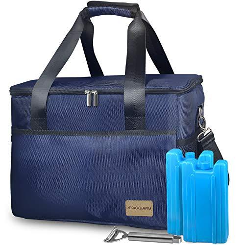 Nevera Portatil 28L Bolsa Isotermicapara para Bebidas, Forro Plástico Aislamiento Térmico para Playa, Picnic, Camping, Barbacoa