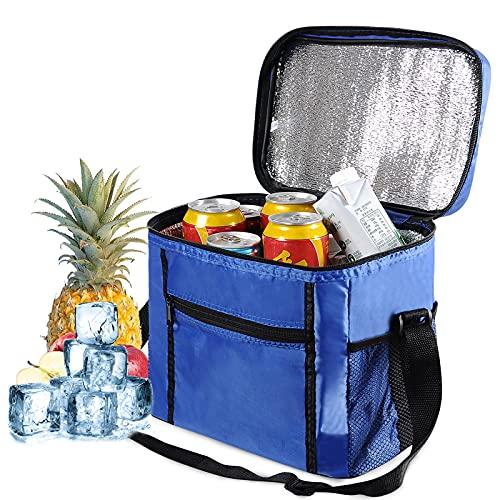 JTENG Bolsa térmica, bolsa térmica para almuerzo, 10 L, nevera isotérma para mantener caliente o frío para picnics, al aire libre, barbacoa, camping, eventos deportivos