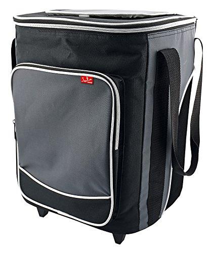 Jata Nevera Trolley Porta Alimentos Flexible, Tela, Gris, 30x30x41 cm