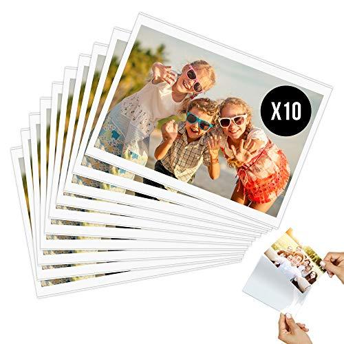 Marco de fotos magnético 10 x 15 cm (lote de 10) – Imán magnético para nevera – Decoración portafotos con funda transparente (formato de foto A6)